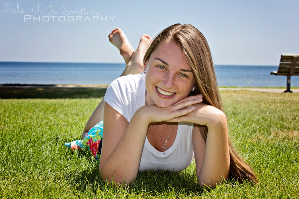 Tiffany Laying in Grass